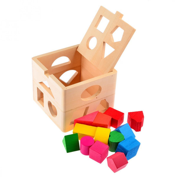 15 Holes Intelligence Shape Sorting Box