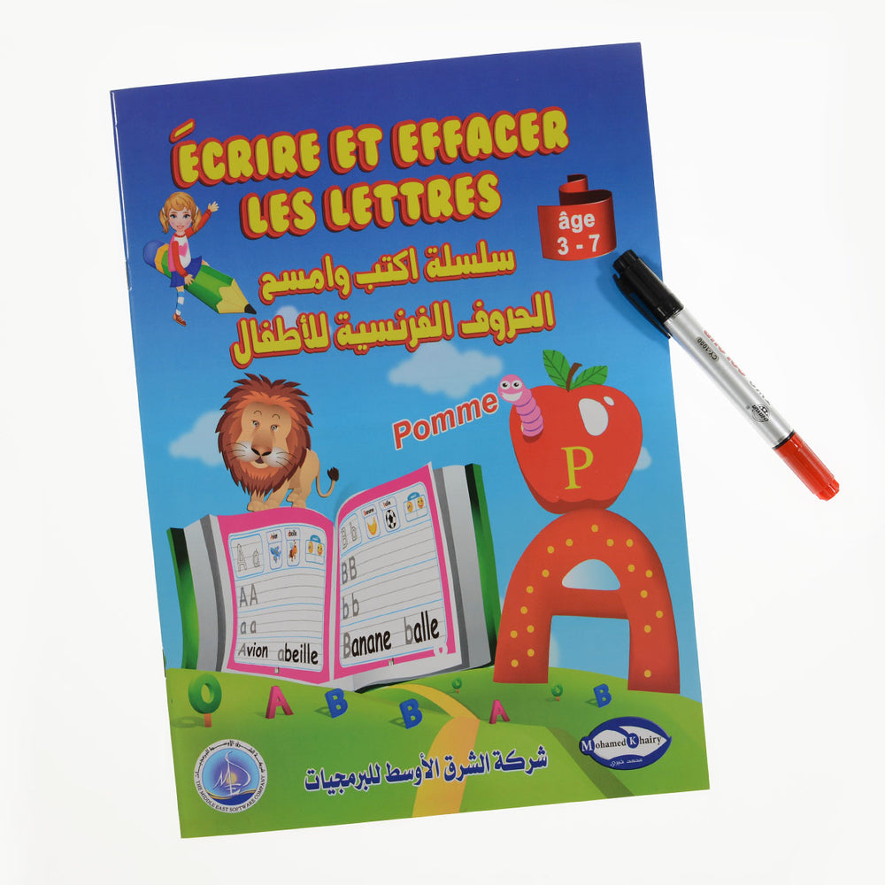 Write And Wipe French Letters Book