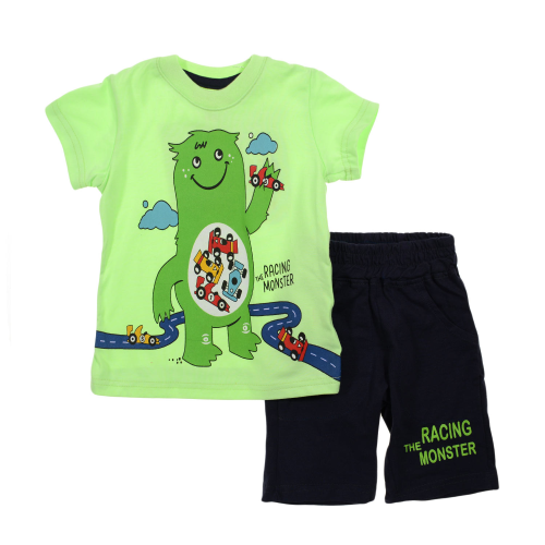 Kangaroo Racing Monster Pajama Light Green