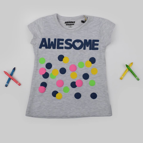 Skittles Awesome Shirt Gray