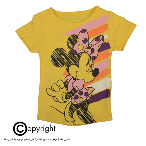 Violet Minnie Mouse Shirt Yellow