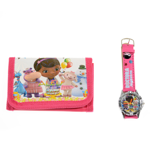 Doc McStuffins Childrens Watch and Wallet/Purse Set