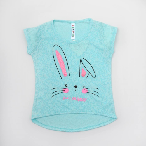Exit 2 Rabbit Shirt Cyan