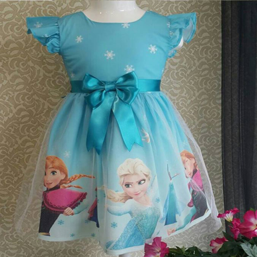 Turkey Frozen Dress Light Blue