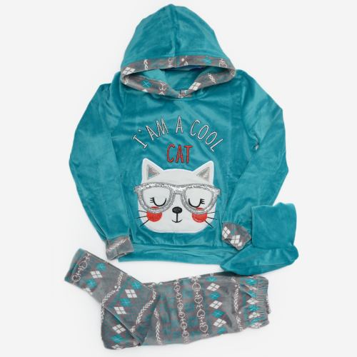 Cool Cat Winter Pajama Mint