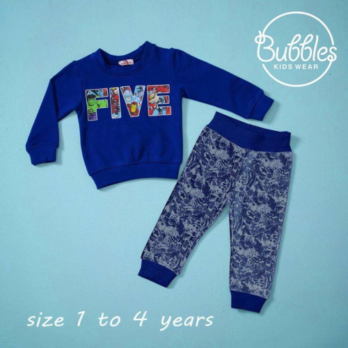 Bubbles Five Pajama Blue
