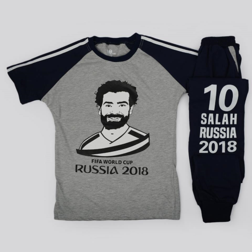 Cotton Mohamed Salah Pajama Gray