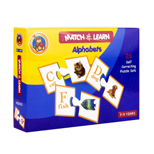 Teaching Alphabets And Animals Puzzle