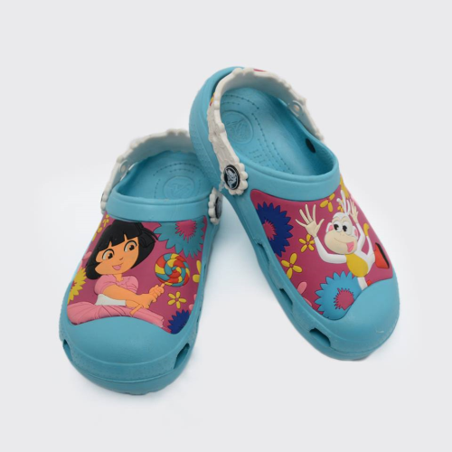 Dora Crocs Light Blue