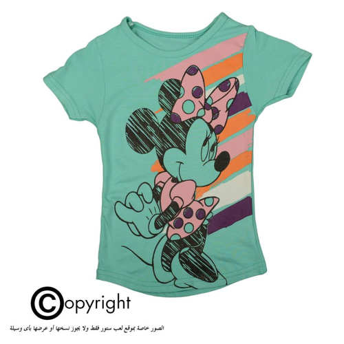 Violet Minnie Mouse Shirt Light Green