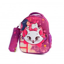 Glossy Bird Cat Backpack Purple 12