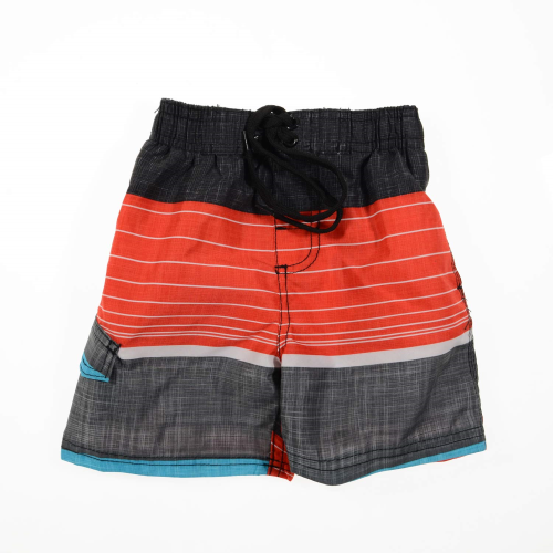 Kanu Striped Swimsuit Red Gray