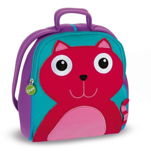 OOPS Soft Cat Backpack purple 12""