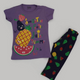 Kangaroo Fruite Pajama Purple