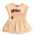 Solang Glitter Dress Beig