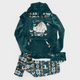 Cats Winter Pajama Dark Green