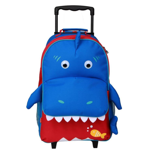 Yodo Shark Rolling Backpack Size 14.5 inches