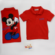 Mickey Polo Shirt Red