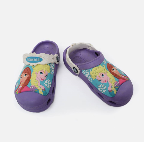 Frozen Crocs Purple