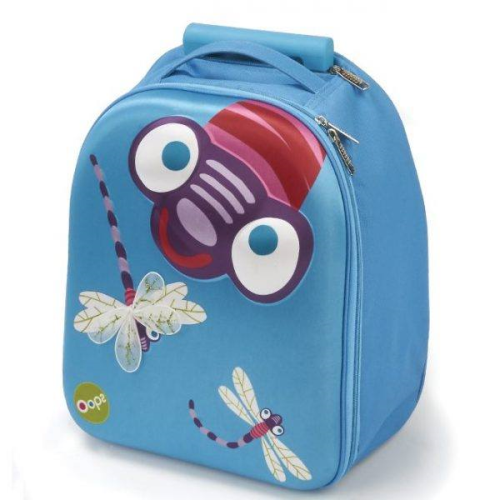 OOPS Easy Fly  Rolling Backpack Light Blue 14""