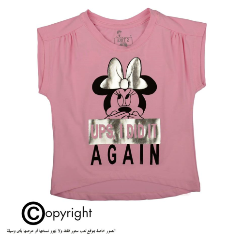Exit 2 Minnie Mouse Shirt Pink