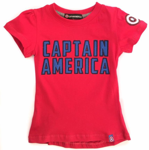 Captain America Shirt Dark Red