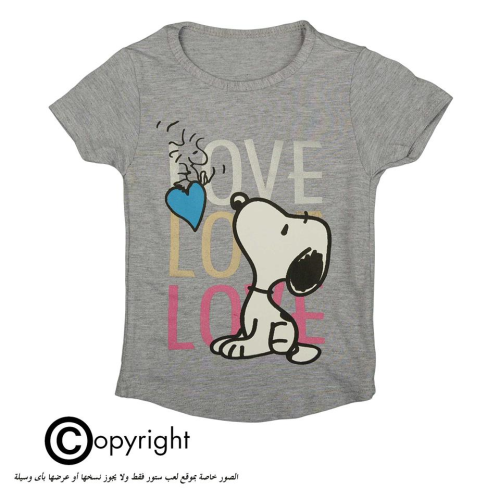 Violet Snoopy Shirt Gray