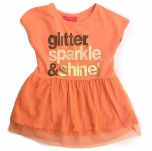 Solang Glitter Dress Orange
