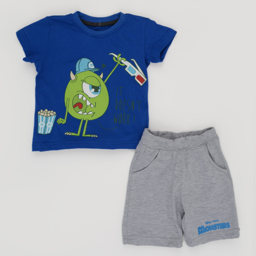 Kangaroo Monster Pajama Blue
