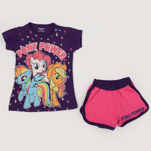 Kangaroo Pony Power Pajama Purple