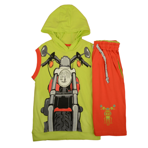 Exit 2 Motorcycle Pajama Light Green