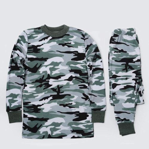 Monaliza Printed Boys Thermal Set Dark Green