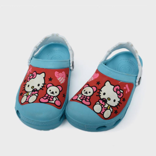 Kitty Crocs Light Blue