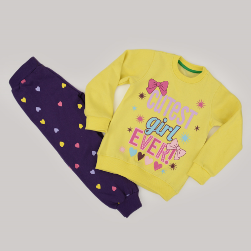Kangaroo Cute Girl Pajama Yellow