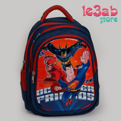 BZ Superman Backpack Blue Black 16""