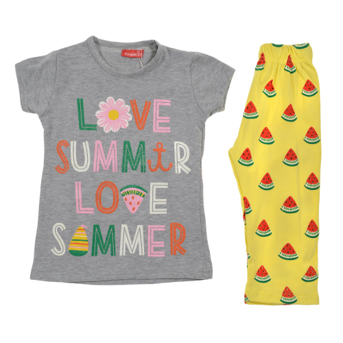 Kangaroo Love Summer Pajama Gray