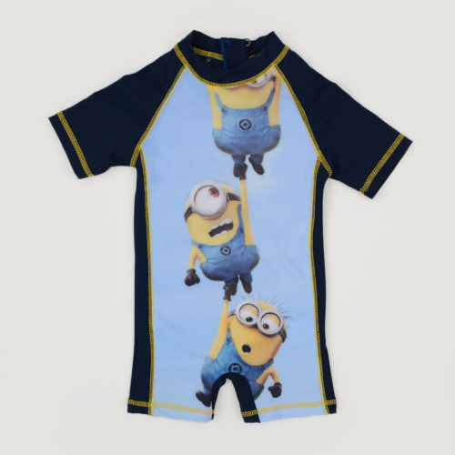 I Wear Minion Swimsuit Blue