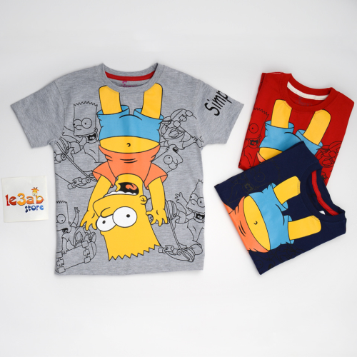 Exit 2 Simpsons Shirt Gray