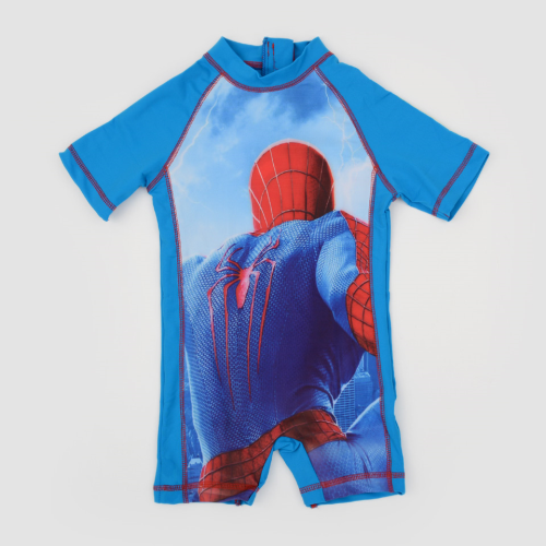 I Wear Spider Man Swimsuit Light Blue
