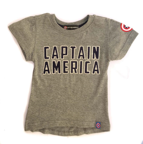 Captain America Shirt Gray