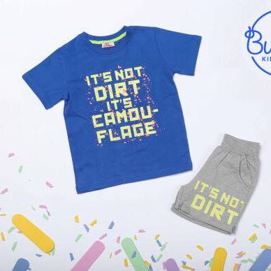 Bubbles Dirt Pajama Blue