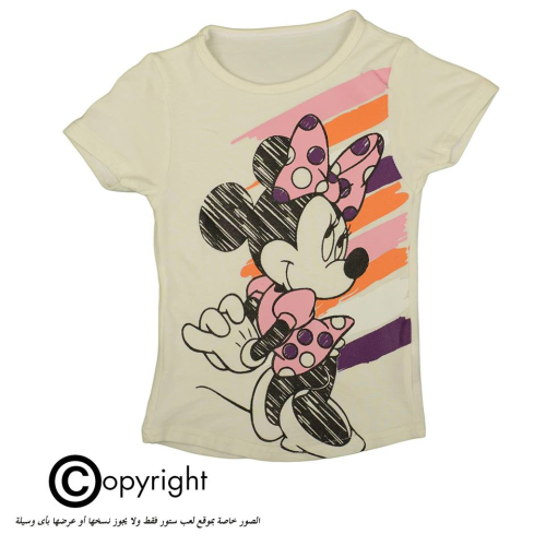 Violet Minnie Mouse Shirt White
