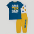 Infantemo Ams Pajama Blue Yellow