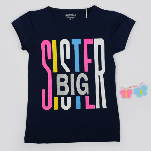 Skittles Big Sister Shirt Blue Black