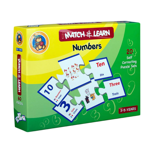 Teaching Numbers And Animal Puzzle