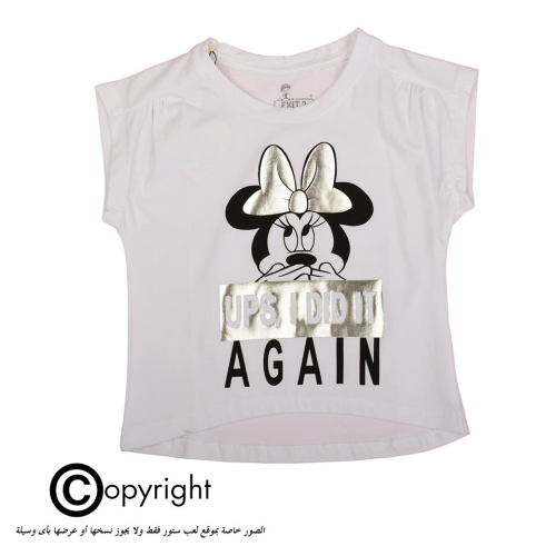 Exit 2 Minnie Mouse Shirt White
