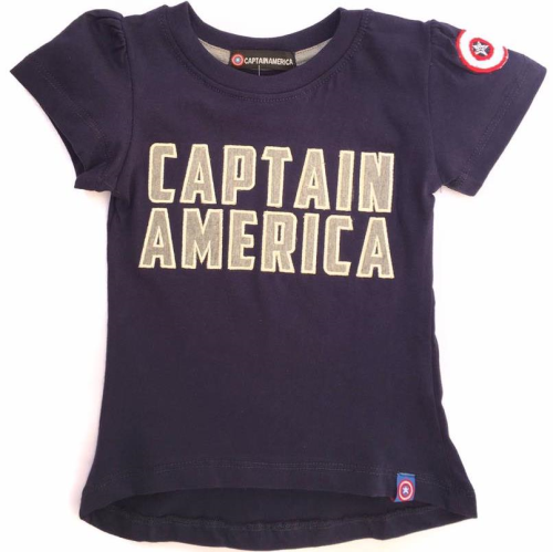 Captain America Shirt Blue Black