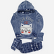 Cool Cat Winter Pajama Gray