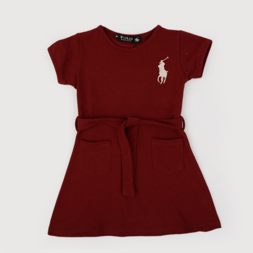 Polo Dress Dark Red