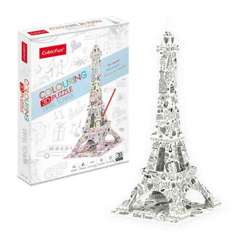 Colouring 3D Puzzle Eiffel Tower